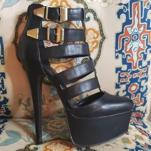Platform heels!  Size 8